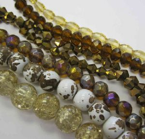 Autumn Browns Sparkle Bead Collections